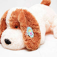 """Большая мягкая игрушка - собачка """"Шарик"""" (персиковый) 110 см."""