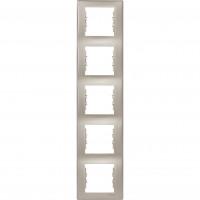 SDN5801568 Рамка на 5 постів вертикальна, титан Schneider Electric Sedna