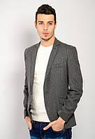 Пиджак AG-0000736 Серый в синюю полоску, фото 1