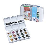 Набор акварельных красок Royal Talens Van Gogh Pocket box 12 + 3 цветов пластиковый пенал