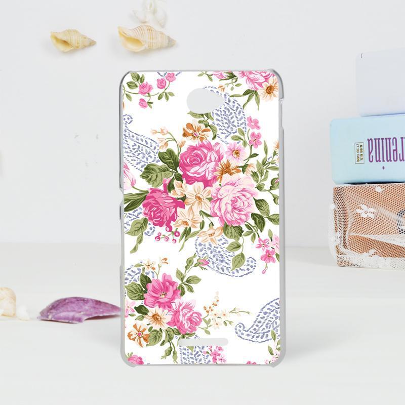 Чехол Epik для Sony Xperia E4 Цветы