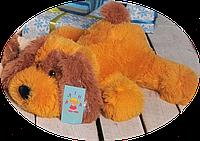 """Большая мягкая игрушка - собачка """"Шарик"""" (медовый) 110 см."""