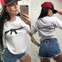 Стильная футболка SEX terrorist , размер С М, фото 2