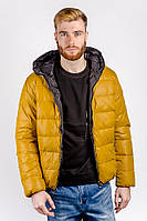 Куртка мужская теплая на синтепоне, с капюшоном AG-0002568 Горчичный, фото 1