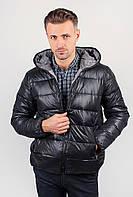 Куртка мужская теплая на синтепоне, с капюшоном AG-0002568 Черный, фото 1