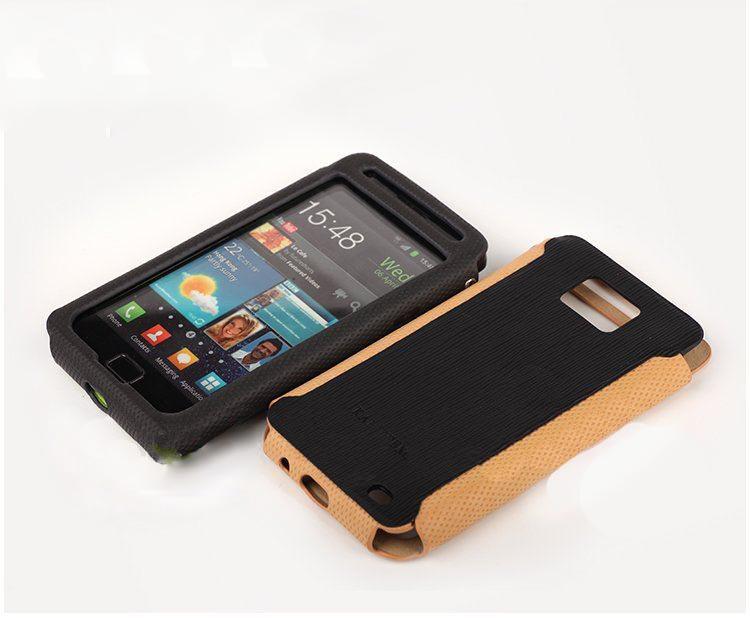 Чехол Epik для Samsung Galaxy S2 I9100 Kalaideng Эко Кожа + подставка и брелок