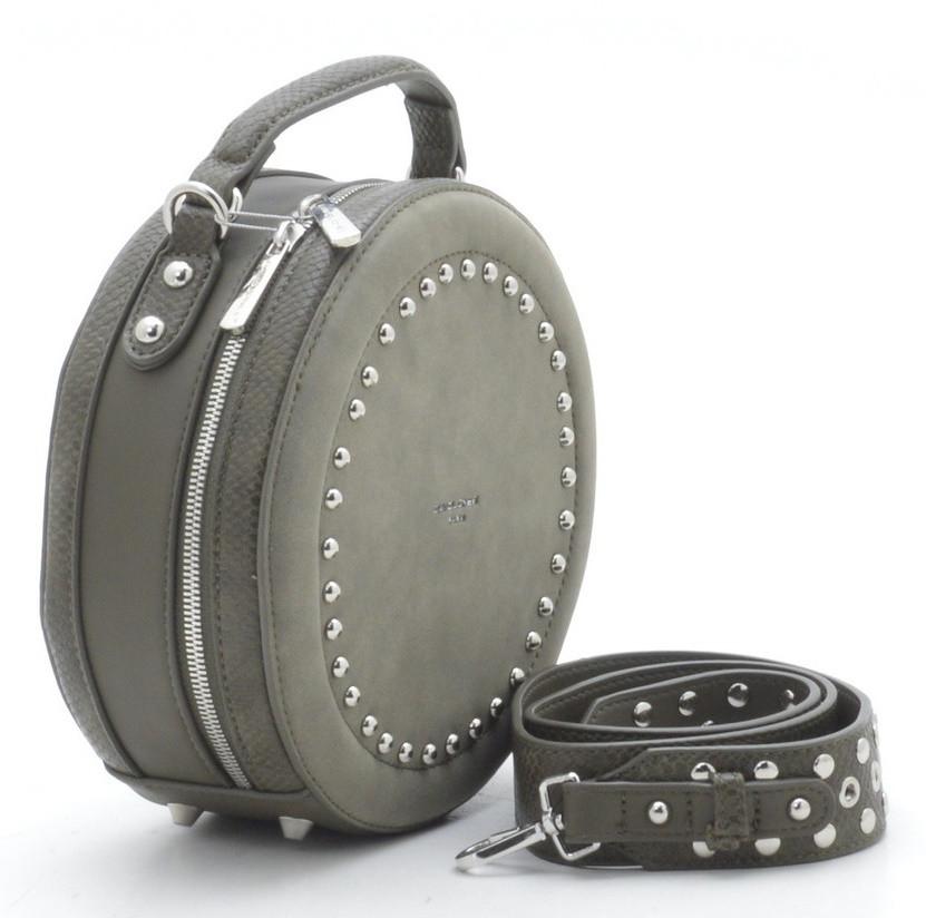 c5ed27b5fc1b Круглый женский клатч David Jones CM3585 Khaki Женские клатчи сумки через  плечо, женские клатчи