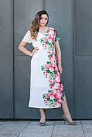 Летнее платье Зарина длинное молочное
