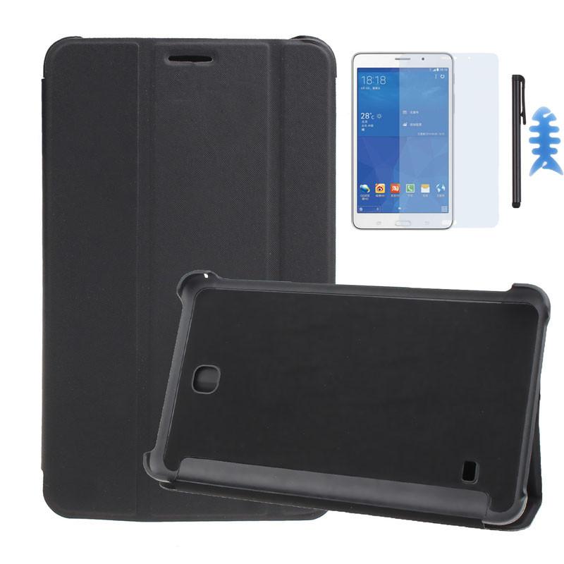 Чехол-Книжка Epik для Samsung Tab 4 7.0 Black + Пленка + Стилус + Фиксатор-Рыбка