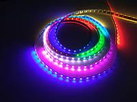 Управляемая цифровая светодиодная лента RGB WS2812b 60 Led/m 5 Volt IP67