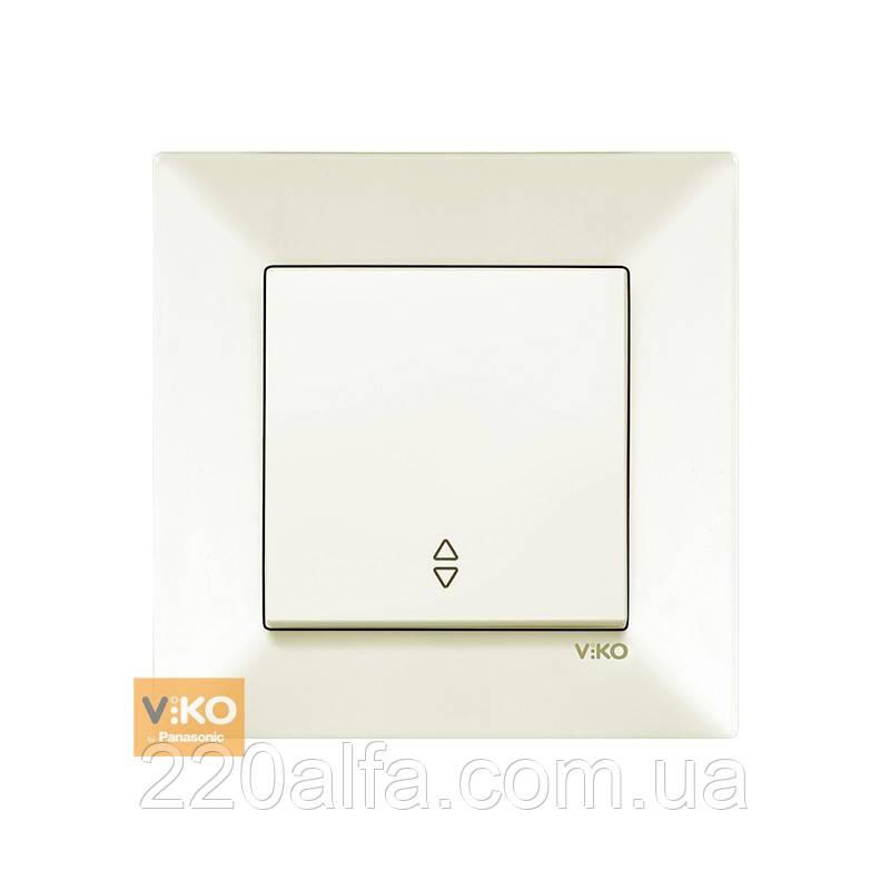 Выключатель проходной Viko Meridian, крем, 1 кл.