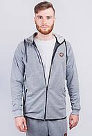 Спортивная мужская кофта с капюшоном AG-0003530 Светло-серый, фото 1