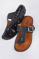 Шлепанцы мужские через палец, вьетнамки AG-0003612 Черный, фото 1