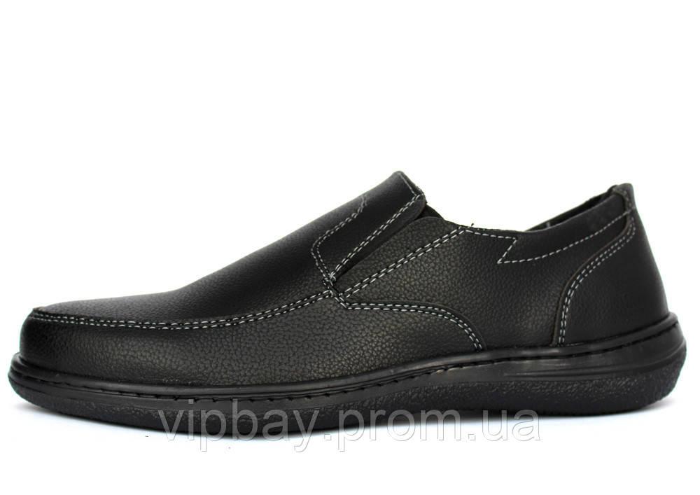 40 р Мужские классические туфли - мокасины на резинку (СГ-сч)