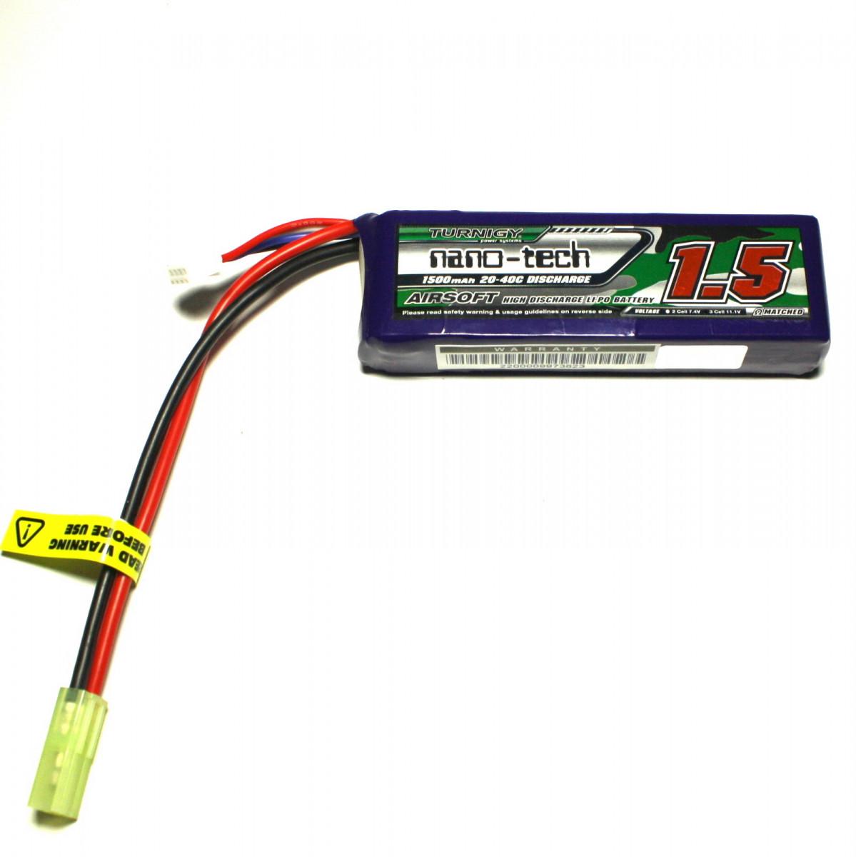 Акумулятор Turnigy Nano-Tech LiPo 11.1v 1500mAh 20~40C