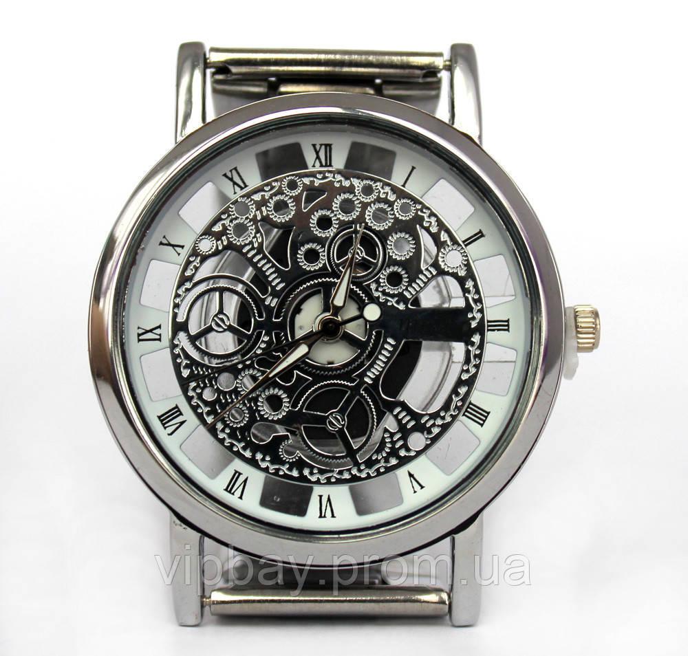 Классические мужские наручные часы на металлическом браслете (ч-29)