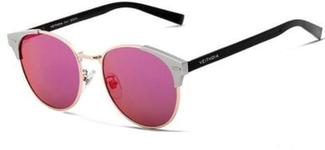 Жіночі сонцезахисні окуляри поляризовані VEITHDIA. Рожеві