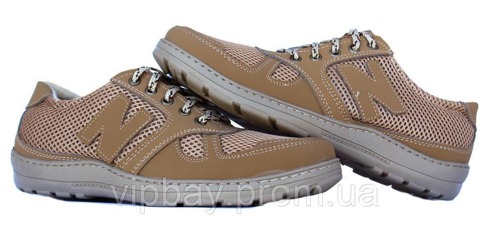40 и 45 р Летние мужские туфли-мокасины бежевого цвета (СГЛ-1)
