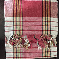 Пештемаль (полотенце для хамама) Classic красно-серый