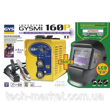 Сварочный инвертор GYS Gysmi 160 P + Маска LCD Techno 11