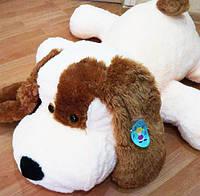 """Большая мягкая игрушка - собачка """"Шарик"""" (белый) 75 см."""