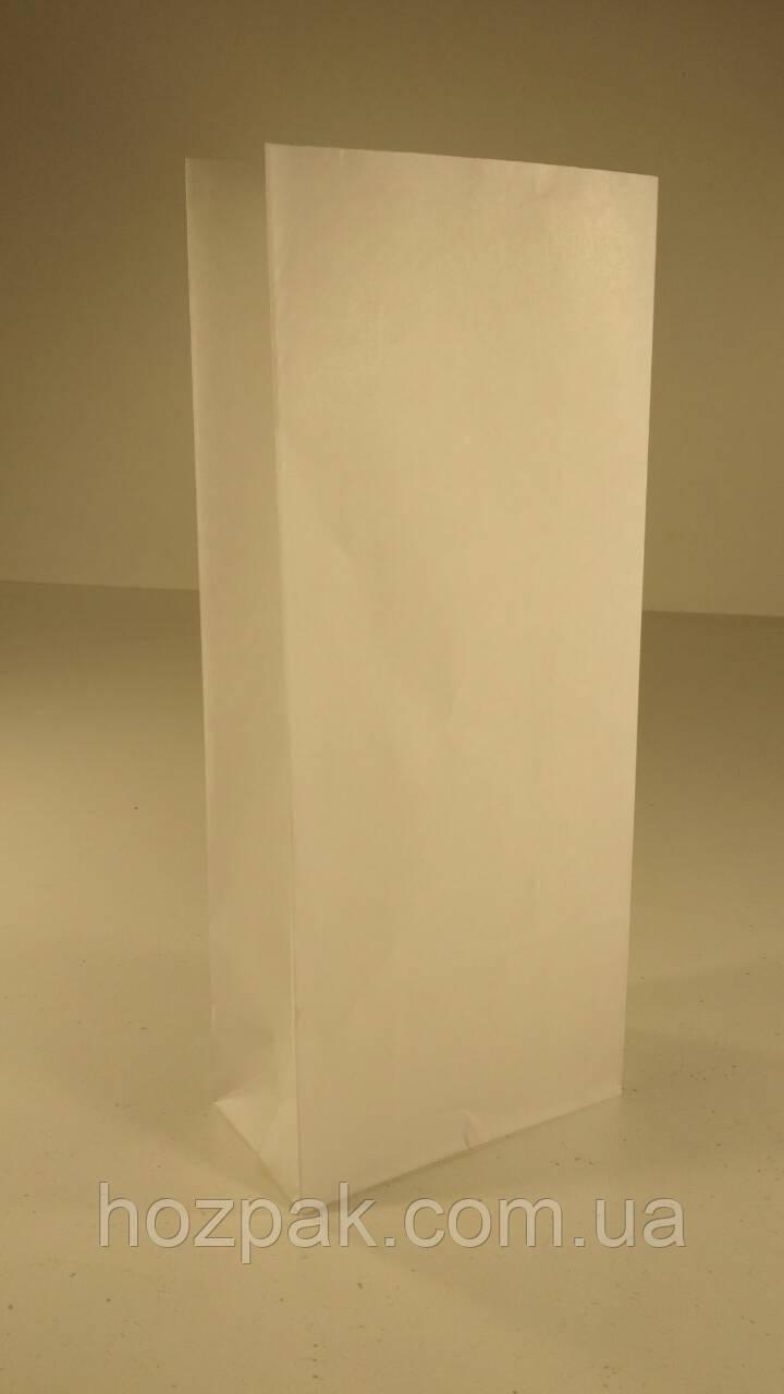 Пакет бумажный 26х11х6см  с дном белый (25 шт)