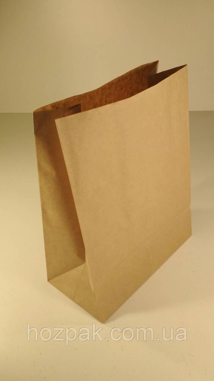 Пакет бумажный 29х23х12 см коричневый с дном (25 шт)