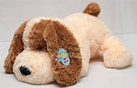 """Большая мягкая игрушка - собачка """"Шарик"""" (персиковый) 75 см."""