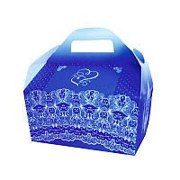 Коробочка для свадебного каравая синяя