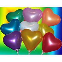 """Воздушные шары сердце 6""""(15 см) Ассорти Металлик В упак: 100шт. ТМ """"Gemar"""" Италия"""