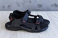 Мужские сандалии на липучках натуральная кожа, фото 1