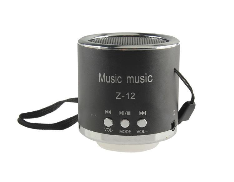 Портативная Аудио-колонка TOTO USB/FM/Micro-USB/TF-card Z-12 Black