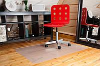 Ковер защитный под кресло 100х140см молочный, толщина 0,8мм