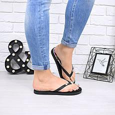 """Шлепки, тапки, сланцы, вьетнамки, черные """"Tampo"""" резина, на ровном ходу, повседневная, летняя, женская обувь, фото 2"""