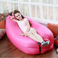 Надувное кресло-лежак, розовый.