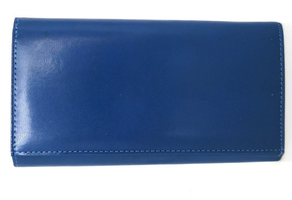 Жіночий кошельок із натуральної шкіри ( Італія) Блакитний