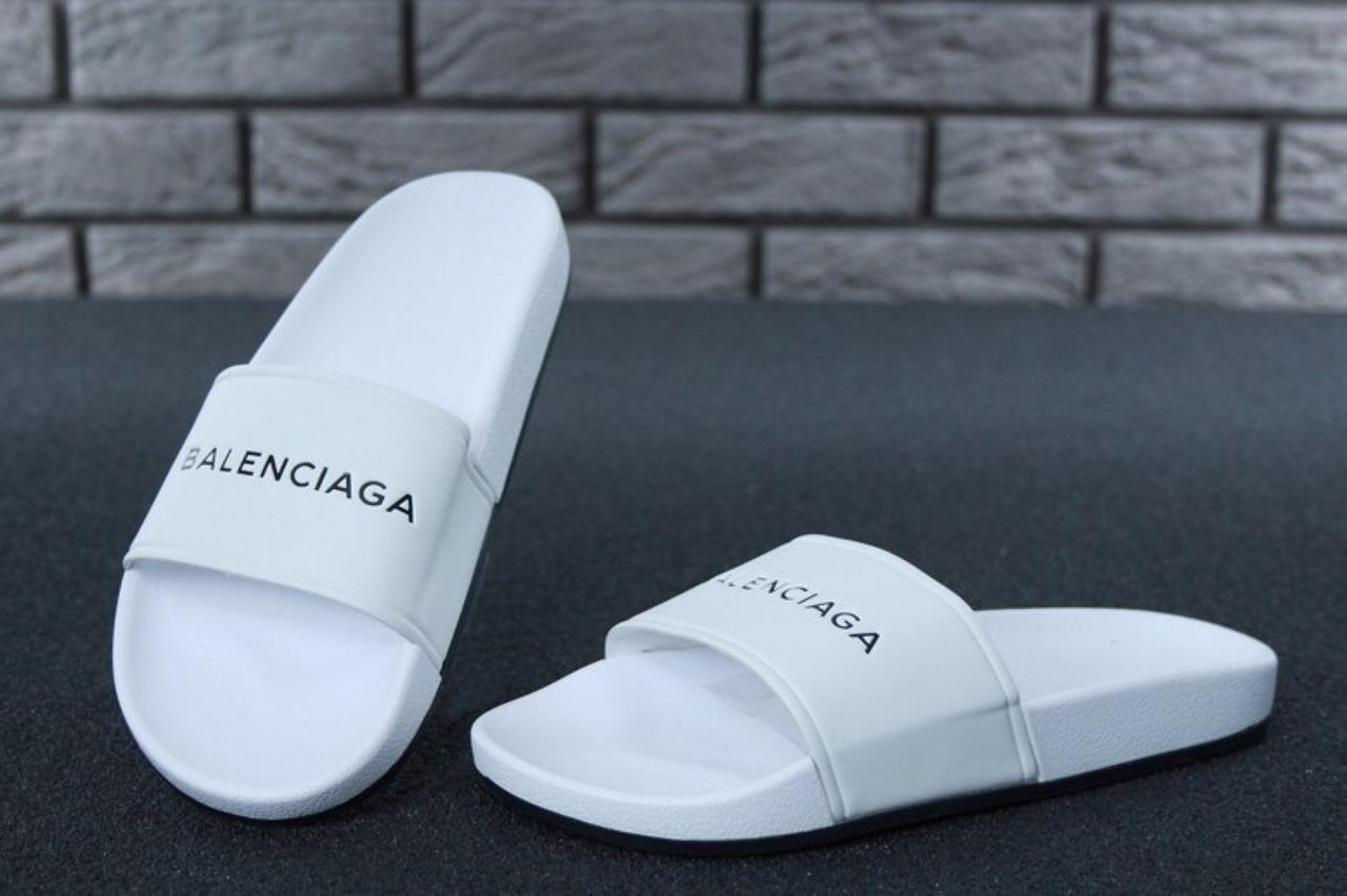 Женские Шлепанцы Balenciaga Slippers White
