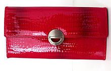 Жіночий кошельок із натуральної шкіри ( Італія) Червоний