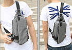 Сумка рюкзак серая, фото 4