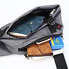 Сумка рюкзак серая, фото 10