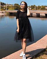 5728b819428 Платье Футболка майка топ вискоза + евро сетка