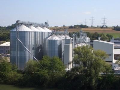 Силосные зернохранилища