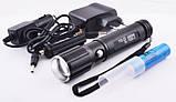 Ручной аккумуляторный фонарик bailong police , фонарь с ультрафиолетом, фото 6