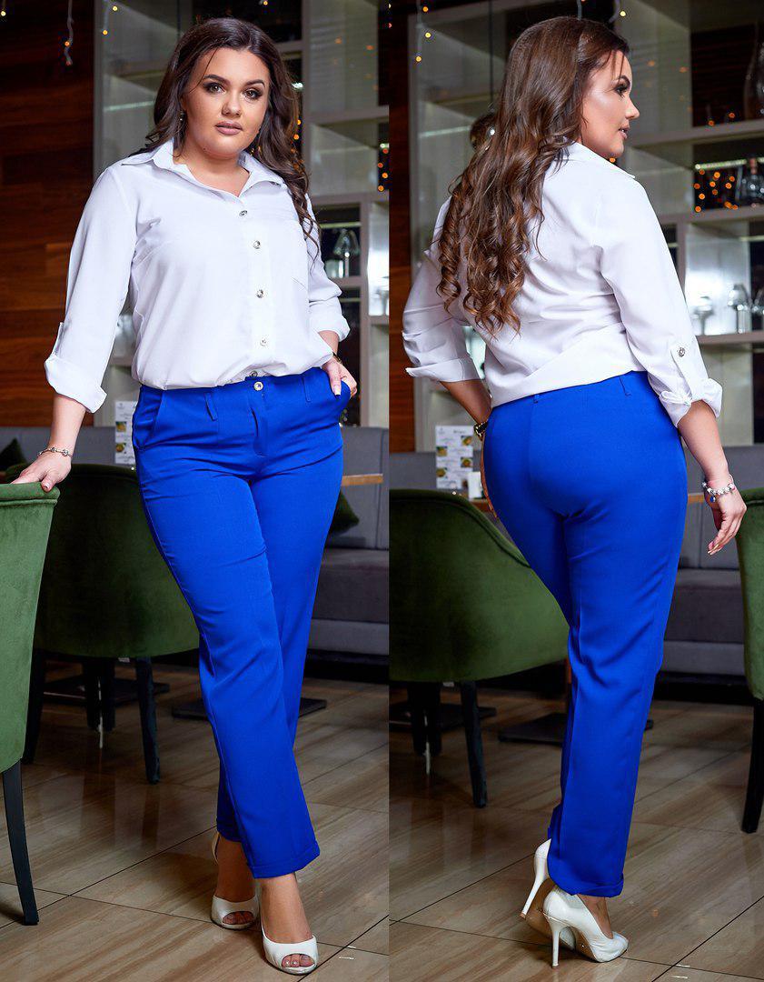 Женские брюки классического покроя 48 50 52 54