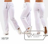 Льняные женские брюки в больших размерах fmx8739