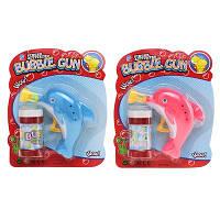 """Детские мыльные пузыри. Пистолет с мыльными пузырями """"Морские жители"""" - дельфин, 9907"""