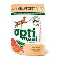 Optimeal С ягненком и овощамиКонсервы для кошек с ягненком и овощами в желе 85