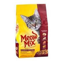 Meow Mix Hairball Control сухой  корм для кошек Способствует выведению шерсти из организма животного 175 г