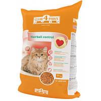 Клуб 4 Лапы Hairball control сухой корм для кошек с эффектом выведения комков шерсти 11 кг