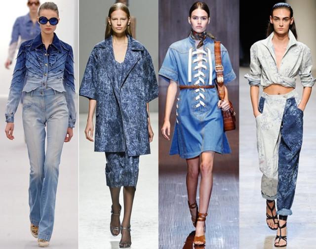 Одежда из ткани джинса